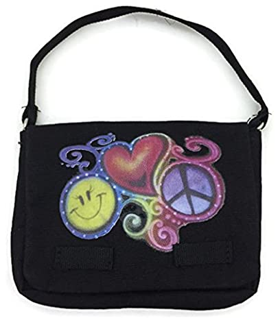 Doll Clothes Fits American Girl Doll and Other 18 Inch Dolls Black Canvas Book Bag - Purse Doll Clothes