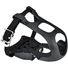 Exustar Clipless Adapter Pedal with Toe Clips & Straps Cleats Sold