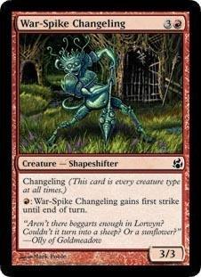 Magic: the Gathering - War-Spike Changeling - Morningtide - Foil