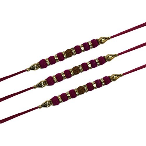 Rakhi for Brother, Rakhee Bhaiya Gift,Set Of Three Rakhi Raksha Bandha Gift for your brother