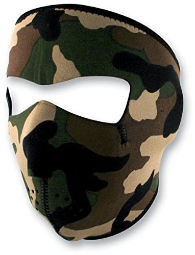 Zan Headgear Woodland Camo Full Face Neoprene Face Mask