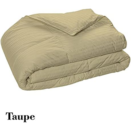 Royal 600 Thread Counts 500 GSM Fiber Fill 1pc Comforter 4pc Sheet Set Grand King Size Taupe Striped 100 Egyptian Cotton By PARADISEHOUSE