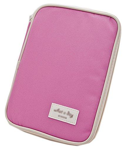 iSuperb Passport Wallet Holder Organizer Waterproof Roomy Passport Case Cards Bag Pouch Travel Wallet Ticket Receipt Pocket 9x6.7x1 inches - Spot Coupons Pink