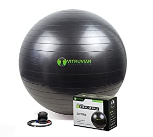 Ditch that Expensive Gym Membership NOW! Our Exercise Ball is the ONLY piece of equipment you will ever need to get a Full Body workout in the comfort of your own home and it won't cost you hundreds of $$$! - Improve your Core Strength, Agili...