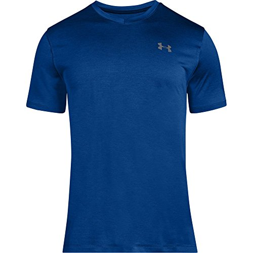 Under Armour Men's Tech V-Neck T-Shirt, Royal (403)/Graphite, Medium