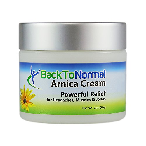 2-Pack of New and Improved! Extra Strength Formula! Back To Normal Arnica Cream, 2 oz.FDA Registered. Topical Analgesic for Joint and Muscle Relief.