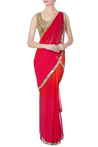 e0ee8ed2db Jaipuri Fashion Traditional Mirror Work Multi Dye Shaded Saree.: Amazon.in:  Clothing & Accessories