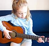 Child's Guitar 1/4 Size 30'' Long Right Handed Set-Up In My Shop With Safe & Easy & Stay In Tune Nylon String Includes Strap & Padded Case Perfect For Ages 2-6
