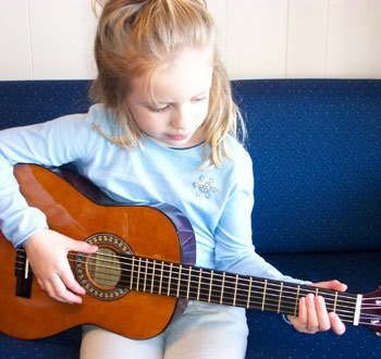 Child's Guitar 1/4 Size 30'' Long Right Handed Set-Up In My Shop With Safe & Easy & Stay In Tune Nylon String Includes Strap & Padded Case Perfect For Ages 2-6 by Guitar Works, Inc.