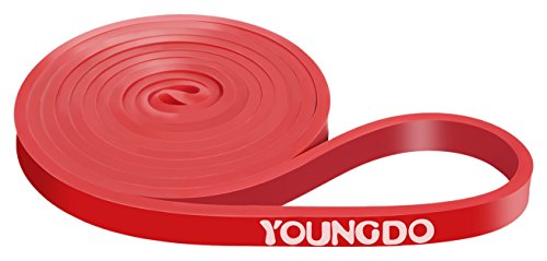 YOUNGDO Pull Up Assist Bands Mobility Resistance Band Heavy Duty Workout Body Stretching Powerlifting Exercise Single Band Set