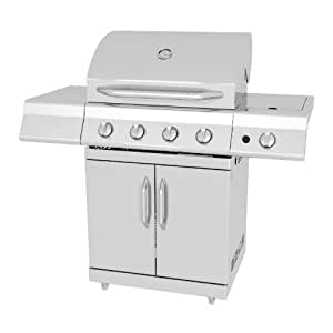 Amazon Com Master Forge 4 Burner Stainless Steel Gas