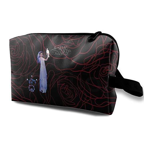 JENNASTOLZZ Unisex Stevie Nicks Bella Donna Daily Music Band Travel Cosmetic Storage Assorted Bag Gift (Stevie Nicks Moon Necklace)