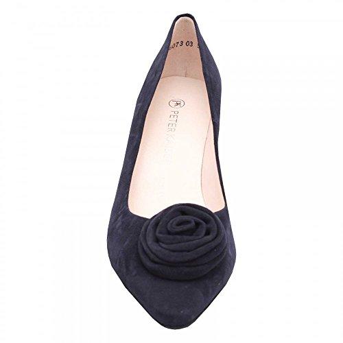 Kaiser Marino para Azul Mujer Suede Peter Navy Vestir de Cuero Zapatos de ZYwWazdxq