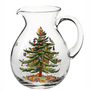 Christmas Tree Pitcher - Spode Christmas Tree Glass Pitcher