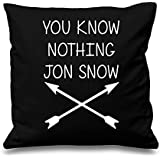 You Know Nothing Jon Snow Crossed Arrows Cushion Cover Decorative Throw Scatter Pillow Square by Just Another Tee