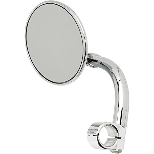 Biltwell Inc  Round Utility Mirror With Clamp On Mount For 1In  Handlebar   Chrome Umcir01cp