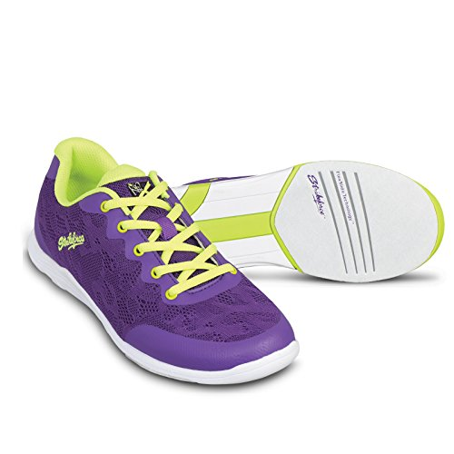- KR Strikeforce Women's Lace Bowling Shoes, Purple/Yellow, Size 7.5
