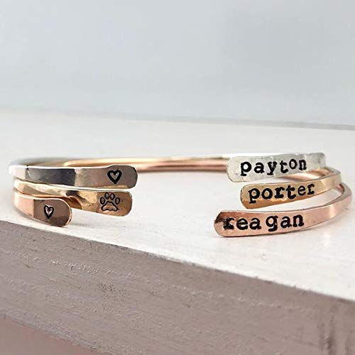 The Personalized Open Thin Cuffs travel product recommended by Francoise Shirley on Pretty Progressive.