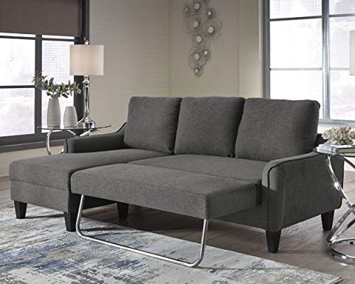 Farmhouse Living Room Furniture Signature Design by Ashley – Jarreau Contemporary Upholstered Sofa Chaise Sleeper, Gray farmhouse sofas and couches