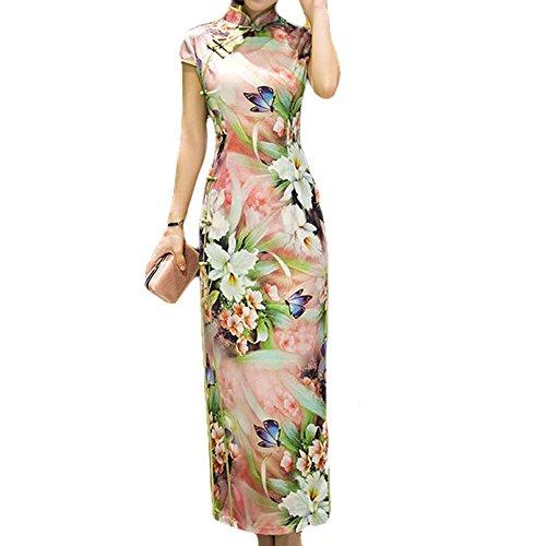 Flora Chinese Style Cheongsam Dress Party Dress Qipao Modern Cheongsam Cocktail ()