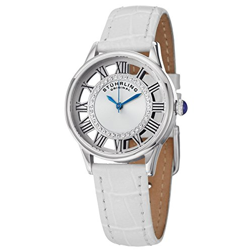 Stuhrling Original Women's 890L.01 Vogue  Swiss Quartz Transparent Crystals White Watch