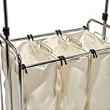 Seville Classics Mobile 3-Bag Heavy-Duty Laundry