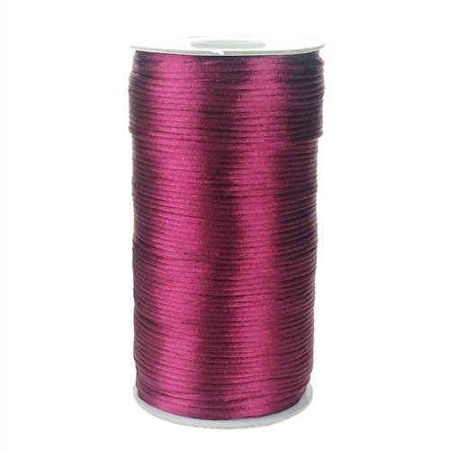 Homeford Firefly Imports Satin Rattail Cord Chinese Knot, 2mm, 200 Yards, Burgundy
