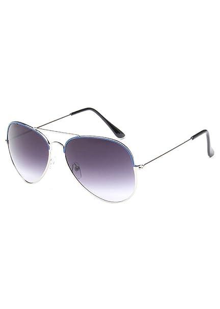 MissFox Gafas de Sol Retro Vintage para Mujer y Hombre Lente Talla única UV400 Piloto Sunglasses