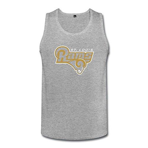 Men's Waistcoat Los Angeles Football Team Logo Fashion HeatherGray Size S