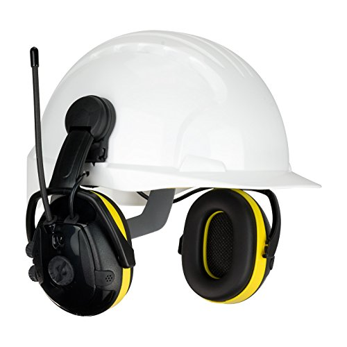 Cap Mounted Electronic Ear Muff with AM/FM Radio and Active Listening - NRR 23 264-46102, (Active Listening Earmuff)
