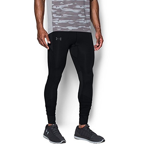 Under Armour Men's ColdGear Reactor Run Leggings,Black /Reflective, Medium