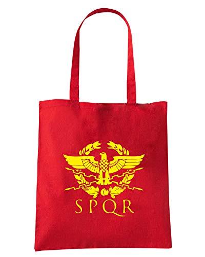 ULTRAS SPQR TUM0067 Shopper Borsa ROMA Shirt Rossa Speed zqwvYIX7I