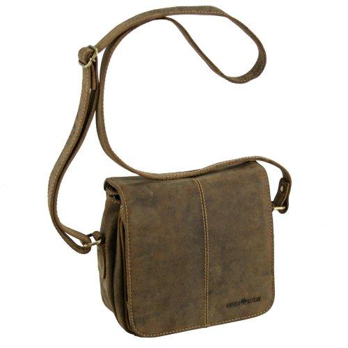 Greenburry Vintage bolso bandolera piel 20 cm sattelbraun