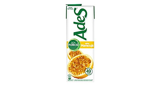 Amazon.com : Ades- Suco de soja - Maracuja- Soy juice - Passion fruit (PACK OF 3) : Grocery & Gourmet Food