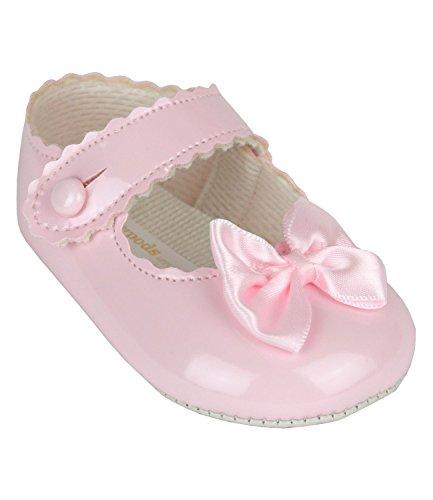 BabyPrem Babyschuhe Weiche Sohle Schleife Baby Schuhe Mädchen 12-18 Monate WEISS Rosa