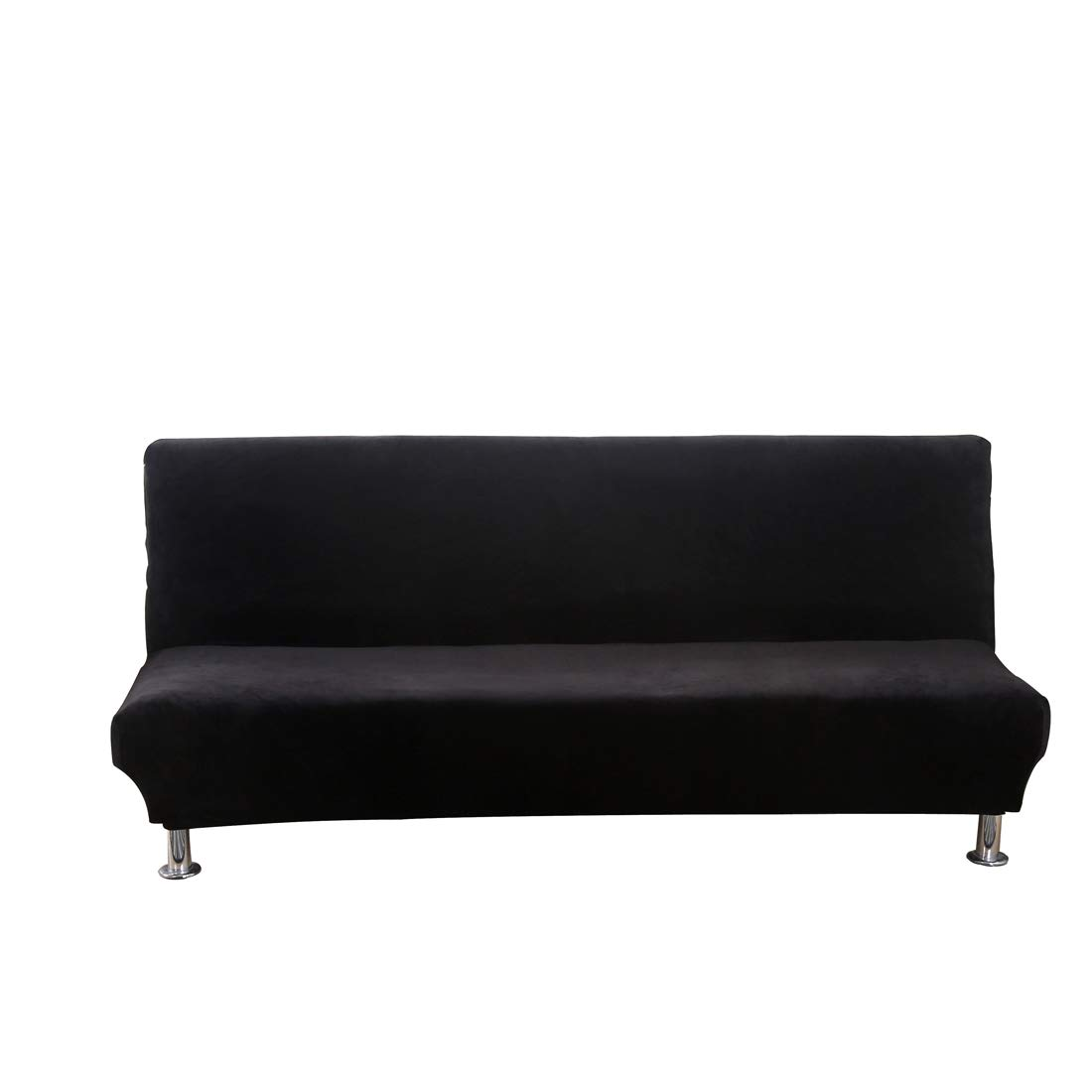 Funda de sofá clic-clac terciopelo epaisse extensible extraíble sin reposabrazos 180 - 210 cm - Funda universal para sofá-cama Stretch para casa oficina ...