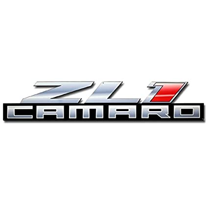 amazon com zl1 camaro metal sign large 34 x 7 home kitchen rh amazon com camaro logo clothing camaro logo seat covers