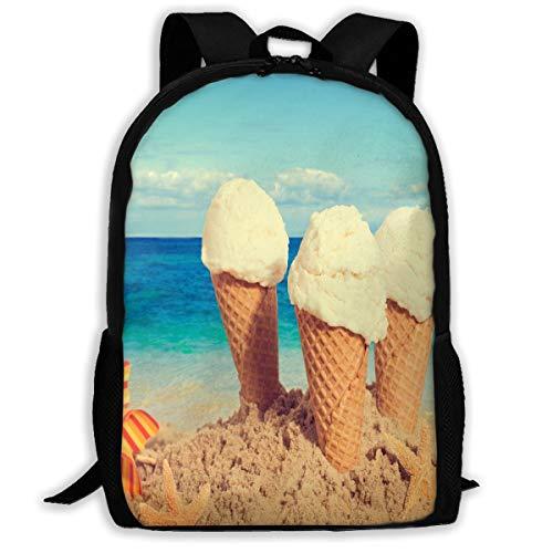 Backpack Lightweight Starfish Beach Sea Ice Cream Sky for Men/Women Hiking