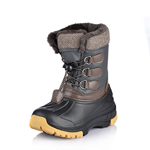 Nova Mountain Little Kid's Winter Snow Boots,NF NFWB01 Grey