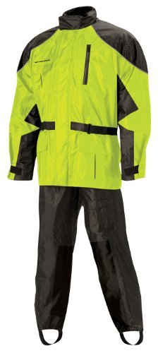 Nelson Rigg AS-3000 Black/Hi-Viz Yellow Aston 2-Piece Rain Suit - Large by Nelson-Rigg