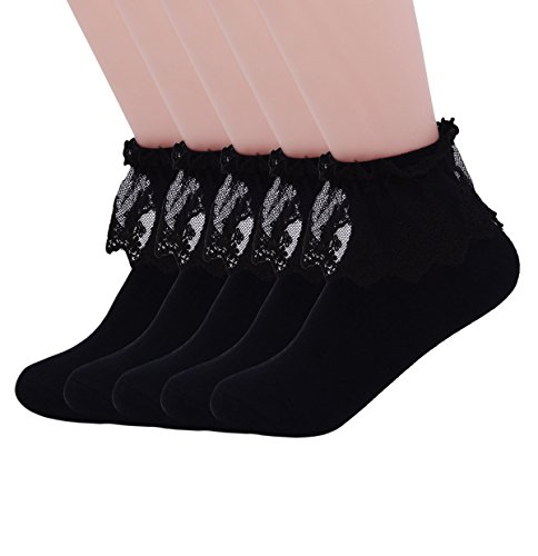 Buy black lace dress coloured tights - 3