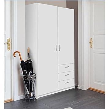 Varia Armoire de Chambre Style Contemporain Blanc - l 97 cm: Amazon ...