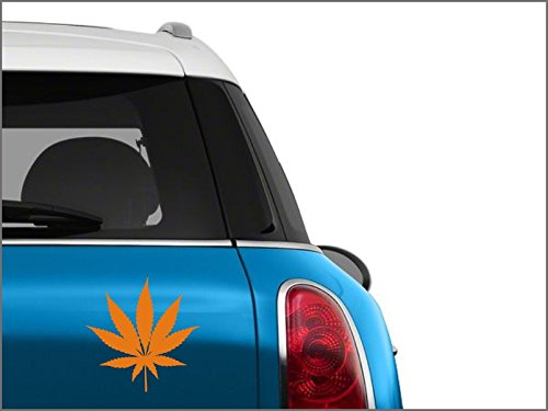 N3135 Grass leaf laptop, bumper sticker (Orange)