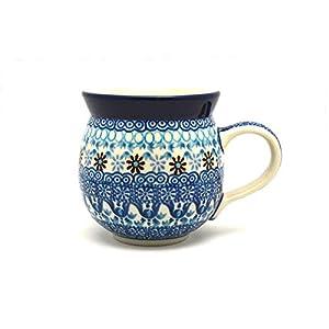 Polish Pottery Mug – 11 oz. Bubble – Blue Yonder