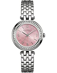 Caravelle New York Womens 43L193  Swarovski Crystal Stainless Steel Watch