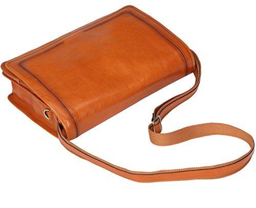 Banuce Vintage Leather Messenger Bag for Men 14 Laptop Business Crossbody Shoulder Satchel Bag by Banuce (Image #4)