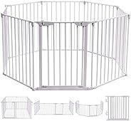Inspirer Studio 5,6,8 Panel Heavy Duty Metal Gate Pet Fence Safe Playpen Barrier