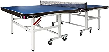 Butterfly Octet 25 Rollaway Table Tennis Table - 1 Inch Top Ping Pong Table - ITTF Professional Table Tennis Table - Folding Ping Pong Table Stores In 2 Pieces - Playback Mode Available for Single Player Use