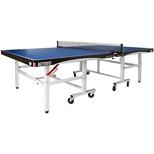 Butterfly Octet 25 Rollaway Table Tennis Table - 1 Inch Top Ping Pong Table - ITTF Professional Table Tennis Table - Folding Ping Pong Table Stores In 2 Pieces