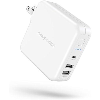 【22時50分まで】RAVPower 6700mAhモバイルバッテリー内蔵USB急速充電器 RP-PB125 送料込2,036円